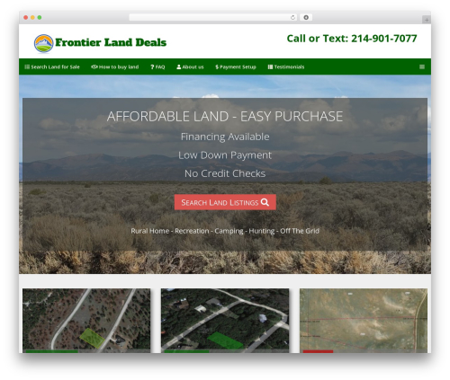 WordPress theme GeneratePress - frontierlanddeals.com