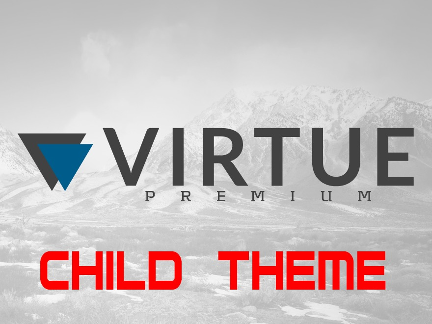 WordPress website template Virtue Premium Child