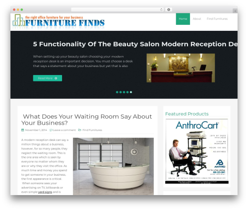 WP RootStrap business WordPress theme - furniture-finds.com