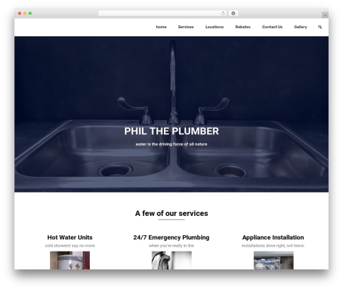 BizPoint theme WordPress free - philtheplumber.com.au