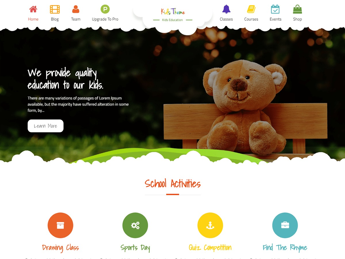 Kids Education best WooCommerce theme