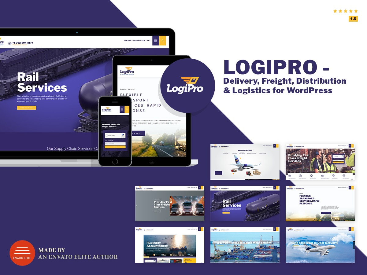 LogiPro business WordPress theme