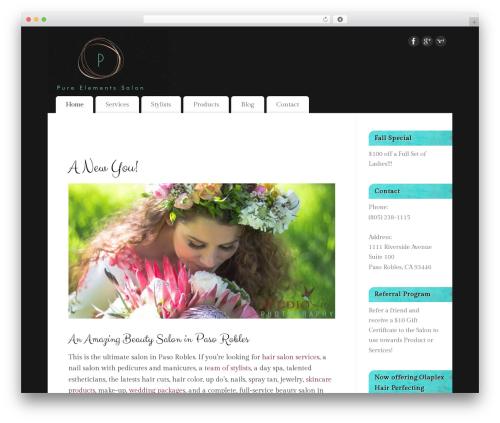 Mantra best free WordPress theme - pure-elements-salon-paso-robles.com