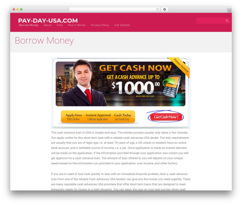 Material for Coders free WP theme - pay-day-usa.com
