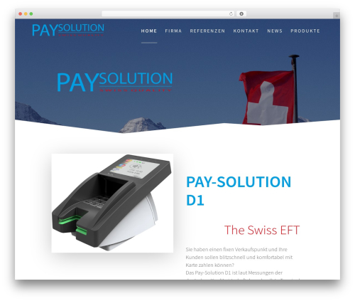 One Page Express free WP theme - pay-solution.ch