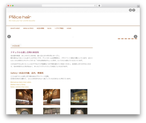 Professional Plus theme WordPress - piecehair.jp