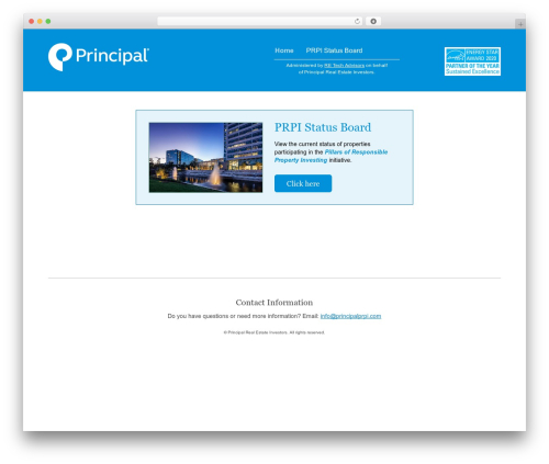 Reflection WordPress template - principalprpi.com