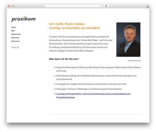 Template WordPress Moka - praxikom.de