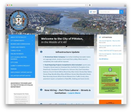 TownPress WordPress theme - pittstoncity.org