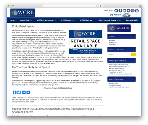 VLM real estate WordPress theme - phillyretailspace.com