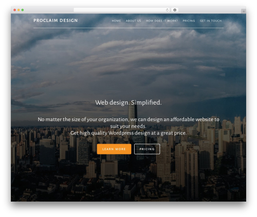 Altitude Pro Theme template WordPress - proclaimdesign.com