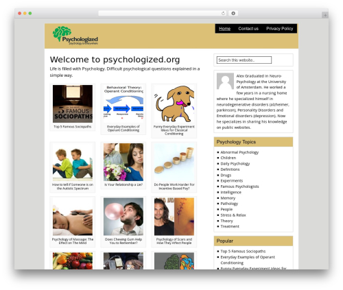 Catalyst top WordPress theme - psychologized.org