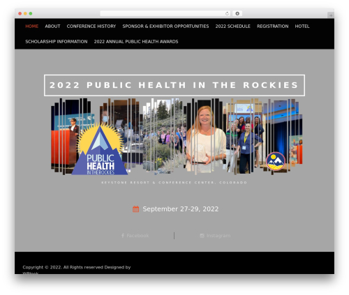 Conference Child Theme WordPress website template - publichealthintherockies.org