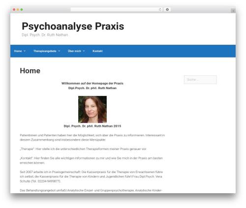 GeneratePress best free WordPress theme - psychoanalyse-praxis.de