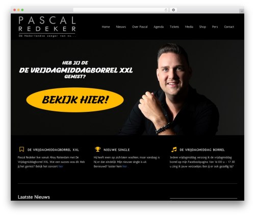 MusicPlay WordPress theme - pascalredeker.nl