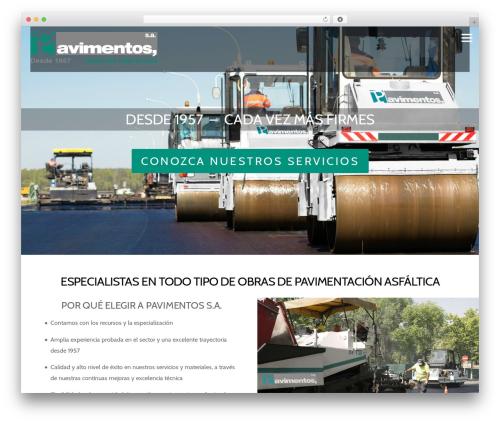 Pavimentos top WordPress theme - pavimentosyasfaltos.es