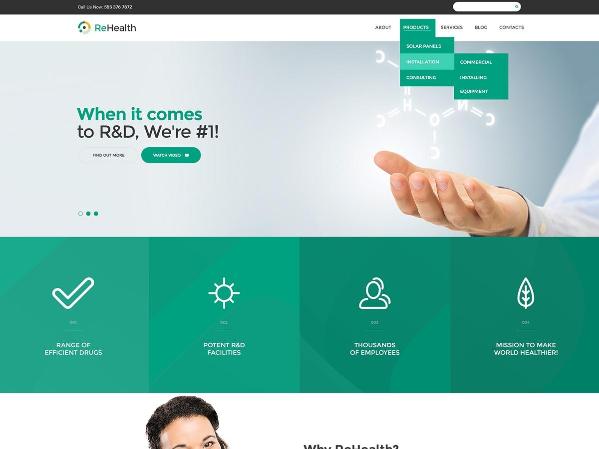 ReHealth business WordPress theme