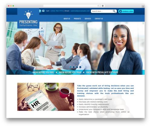 WordPress theme Presenting Solutions Inc - prevaluate.com