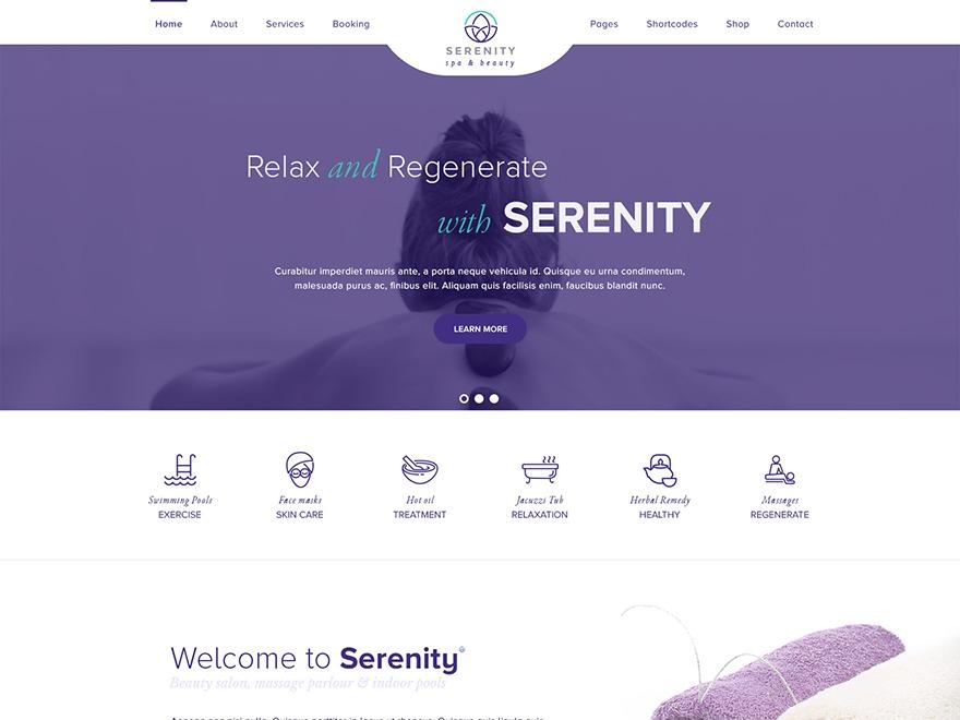 WP Serenity Spa Child WordPress magazine theme