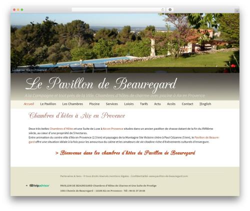 WP template Twenty Thirteen - pavillon-de-beauregard.com/accueil
