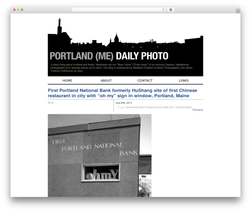 Zack 990 WordPress blog template - portlanddaily.cradockphotography.com