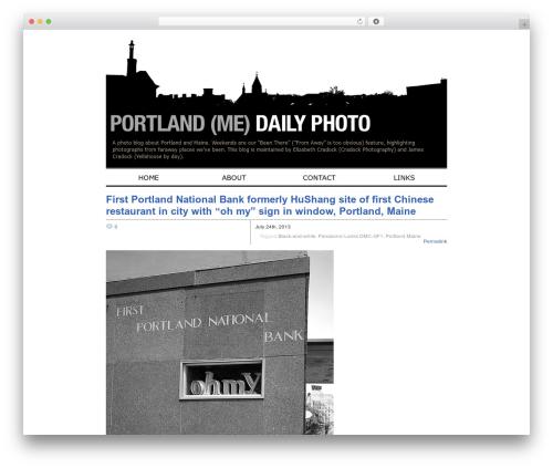 Zack 990 WordPress blog template - portlanddaily.cradockphotography.com