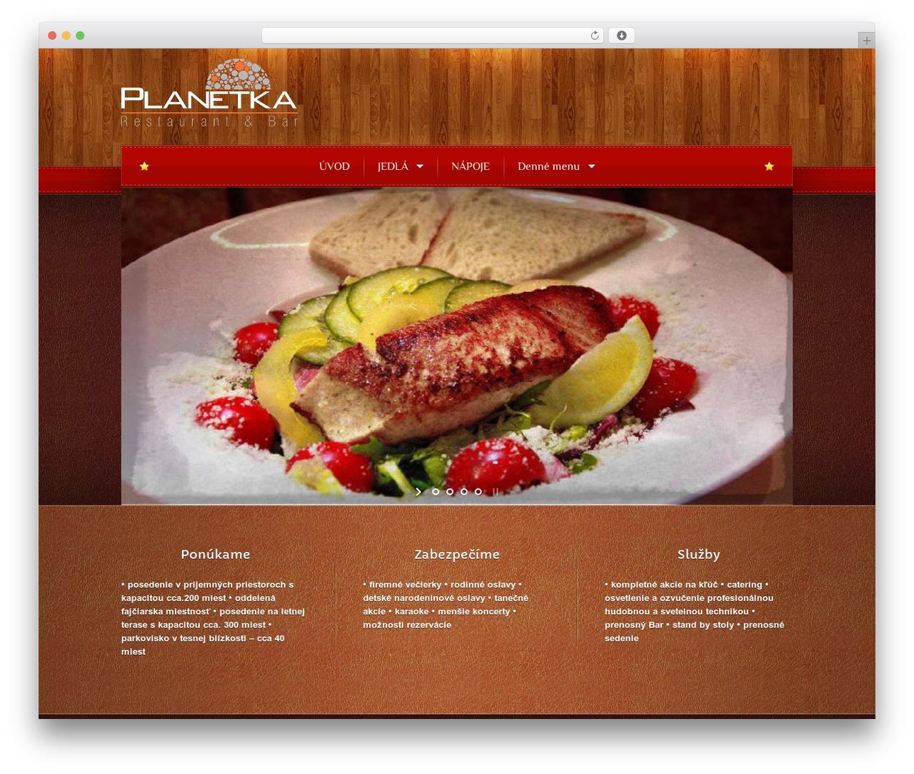 Bordeaux Premium Theme WordPress restaurant theme - planetka.sk