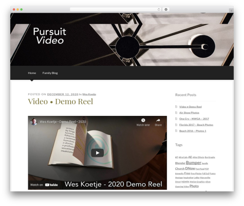 Boutique free WordPress theme - pursuitvideo.com
