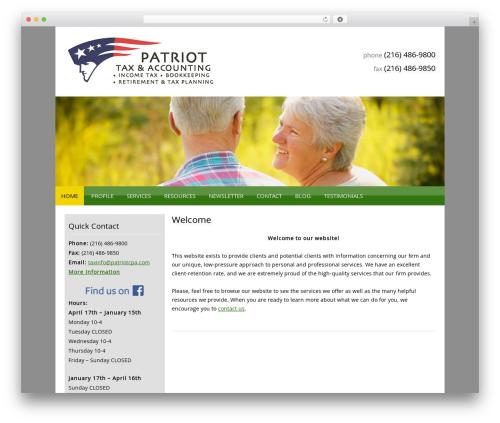 Customized WordPress theme - patriotcpa.com