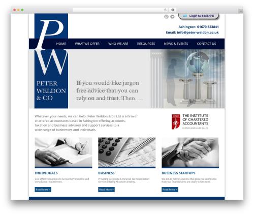 Pells Chartered Accountants WP theme - peter-weldon.co.uk