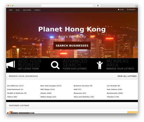 Responsive Business Theme business WordPress theme - planethongkong.com