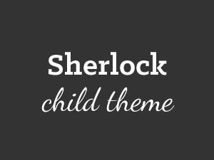 Sherlock Child premium WordPress theme