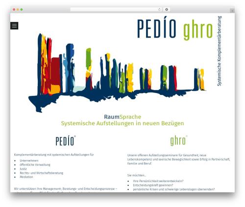 Template WordPress Chitra - pedio.solutions