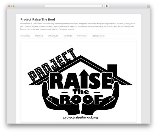 Twenty Twelve best free WordPress theme - projectraisetheroof.org