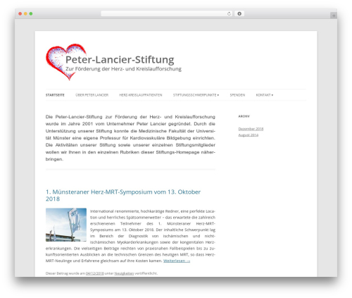Twenty Twelve WordPress page template - peter-lancier-stiftung.de