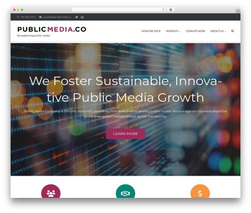 Ultra Premium WordPress theme - publicmedia.co