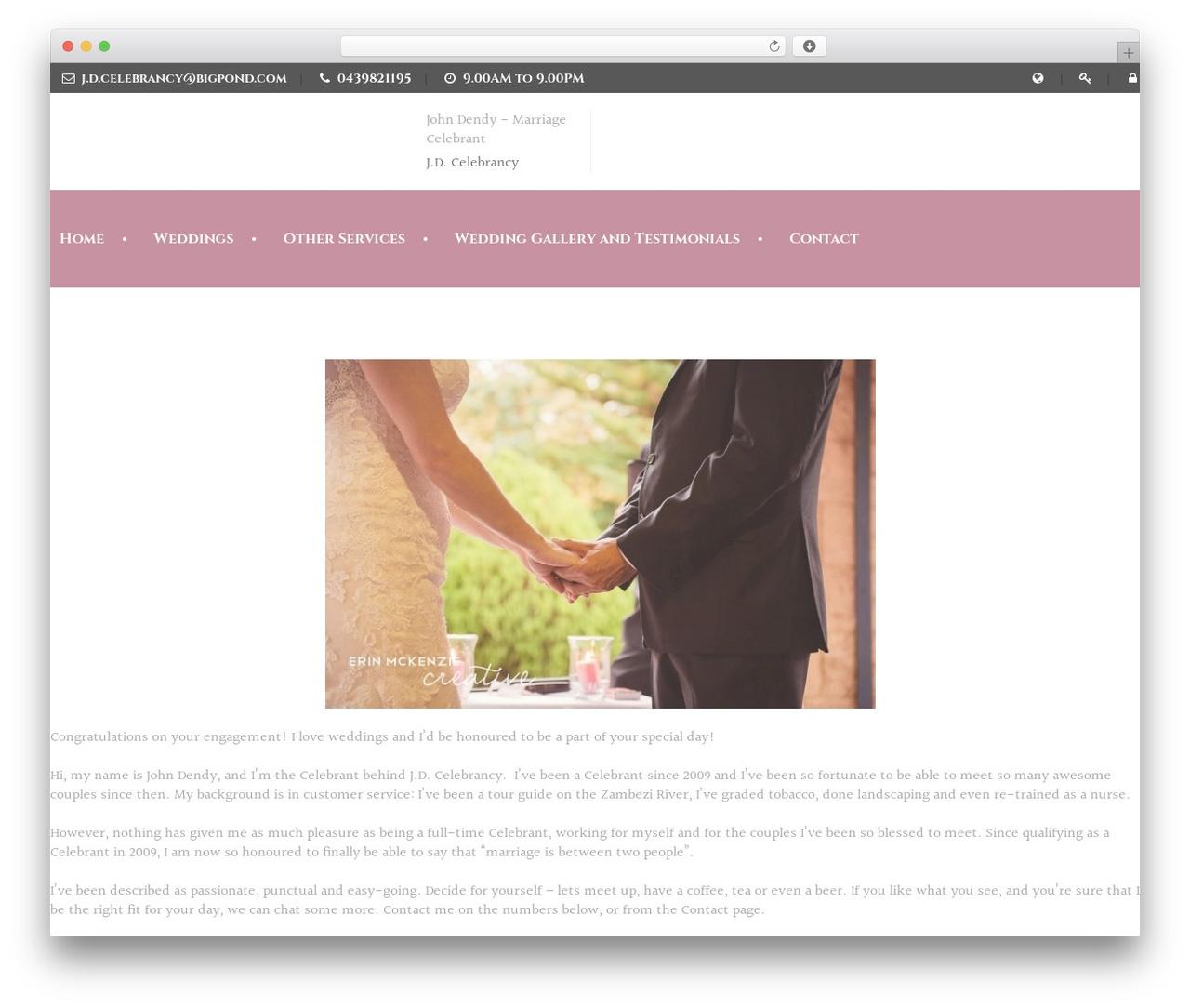 Wedding Industry best wedding WordPress theme by Nicdark ...