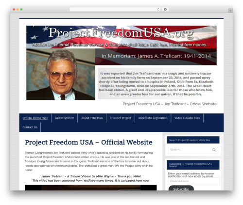 WordPress theme Smartline - projectfreedomusa.org