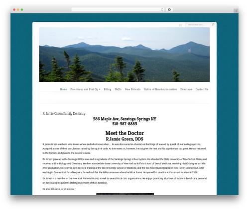 Best WordPress template Chameleon - jamiegreendds.com