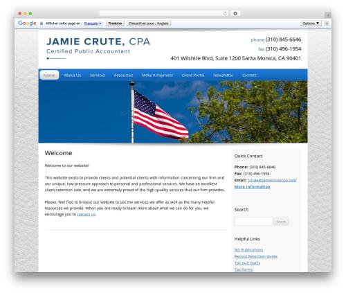 Customized WordPress template for business - jamiecrutecpa.com
