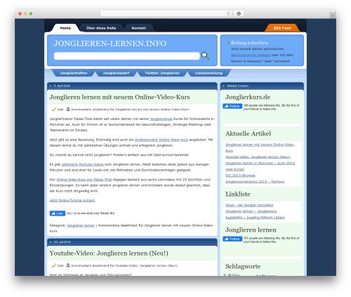 Envy WordPress theme - jonglieren-lernen.info