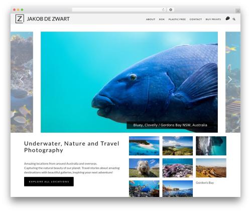 Ibuki wallpapers WordPress theme - jakobdezwart.com