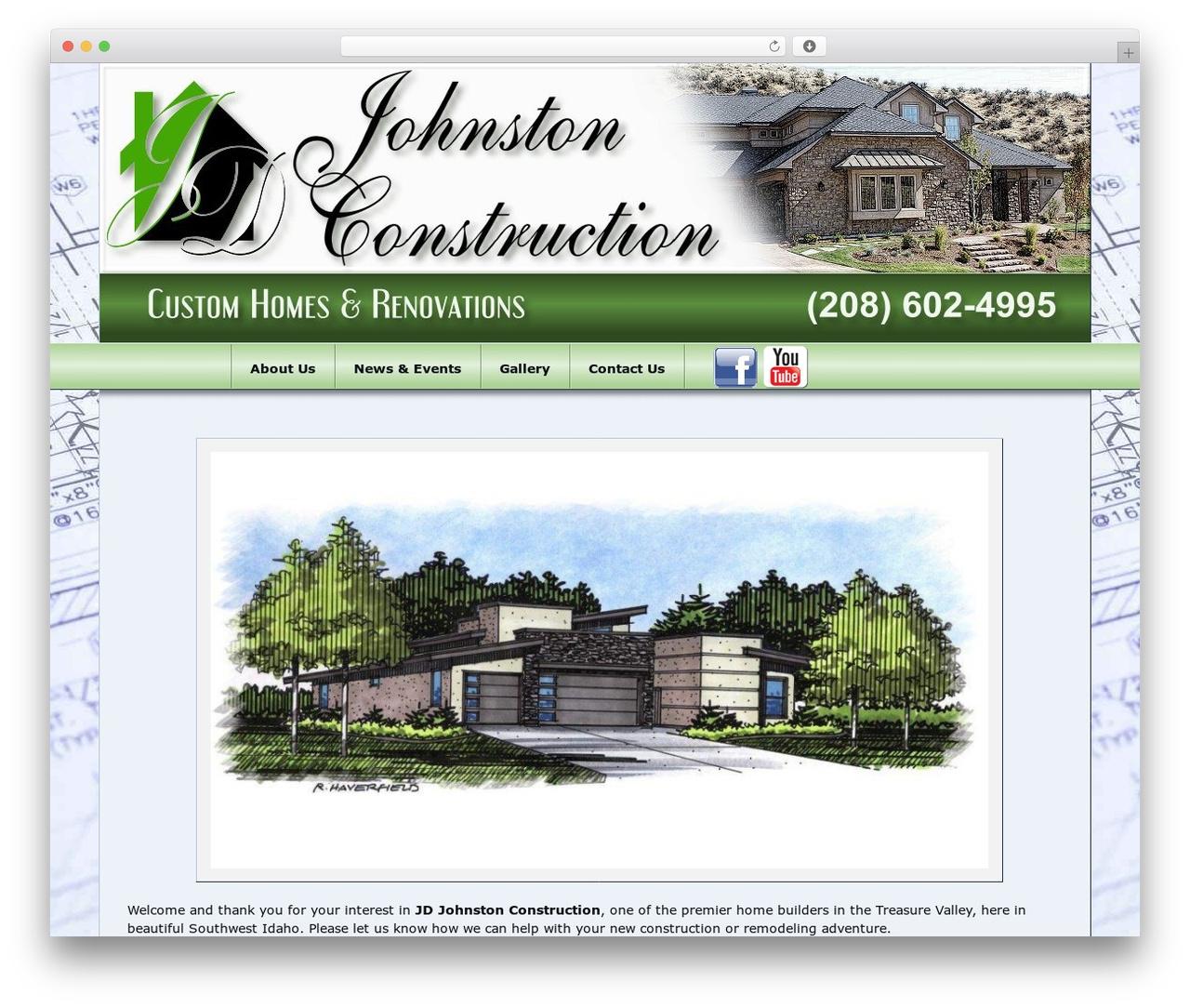 JDJohnston v1.0 WP template - jdjohnstonconstruction.com