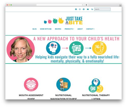 Make top WordPress theme - justtakeabite.com