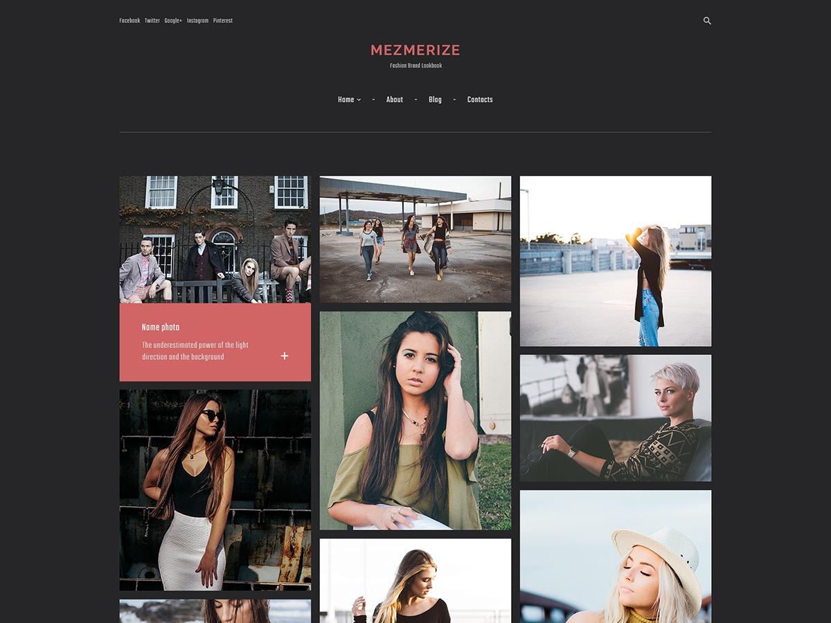 Mezmerize WordPress portfolio theme