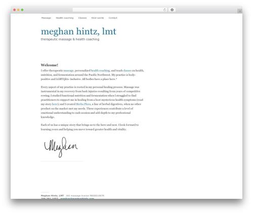 Modernist WordPress theme - meghanhintz.com