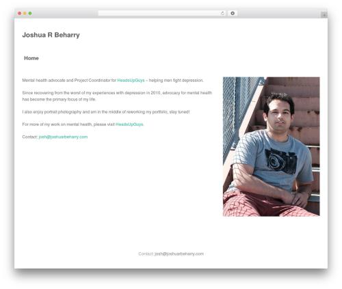 Oren WordPress template free - joshuarbeharry.com