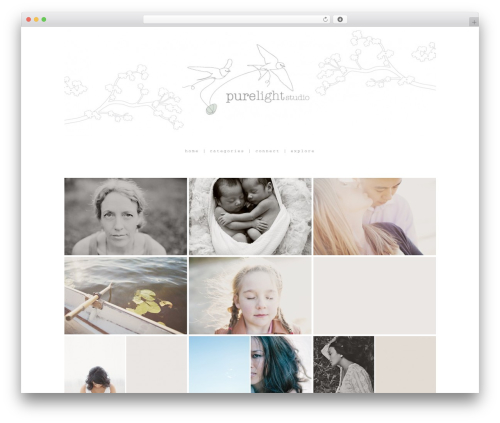 ProPhoto WordPress theme image - pure-light-studio.com