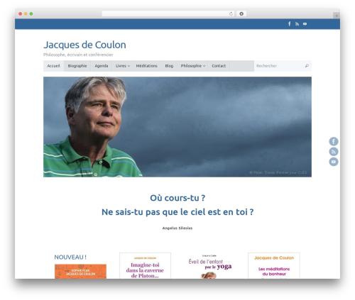 Tempera WordPress template - jacquesdecoulon.com