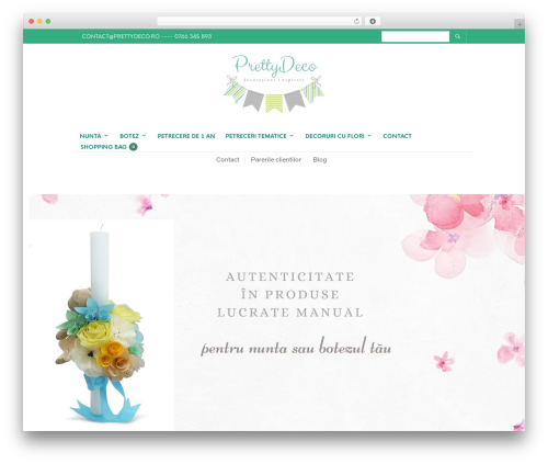 The Retailer WordPress website template - prettydeco.ro